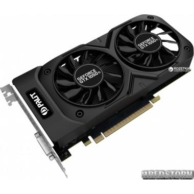 Видеокарта Palit PCI-Ex GeForce GTX 1050 Ti Dual OC 4GB GDDR5 (128bit) (1366/7000) (DVI, HDMI, DisplayPort) (NE5105TS18G1-1071D)