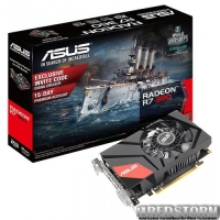 Asus PCI-Ex Radeon R7 360 Mini 2GB GDDR5 (128bit) (1000/6000) (DVI, HDMI, DisplayPort) (MINI-R7360-2G)