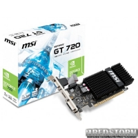 MSI PCI-Ex GeForce GT 720 1024MB DDR3 (64bit) (797/1600) (VGA, DVI, HDMI) (N720-1GD3HLP)