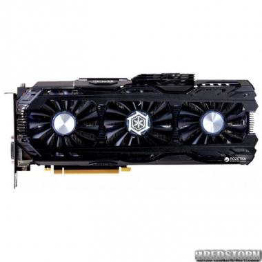 Видеокарта Inno3D PCI-Ex GeForce GTX 1080 Ti iChill HerculeZ X4 11GB GDDR5X (352bit) (1607/11400) (DVI, HDMI, 3 x DisplayPort) (C108T4-1SDN-Q6MNX)